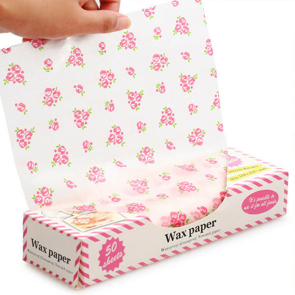 Waxed Food Wrappers - Food Grade - 50pcs/box