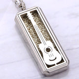 Stainless Steel Aromatherapy Necklace with Aroma Pad