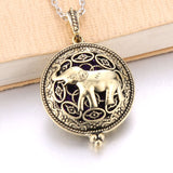 Aroma Diffuser Necklace Antique Vintage Look Pendant