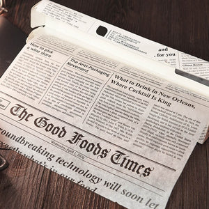 Parchment Greaseproof Paper in a Newspaper style design