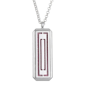Stainless Steel Rectangle Pendant/Necklace with Foam Pad for Essential Oil