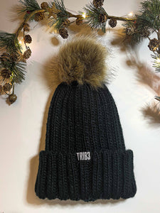 TRIB3 Branded Beanie with Pom-Pom