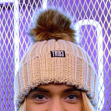 Load image into Gallery viewer, TRIB3 Branded Beanie with Pom-Pom
