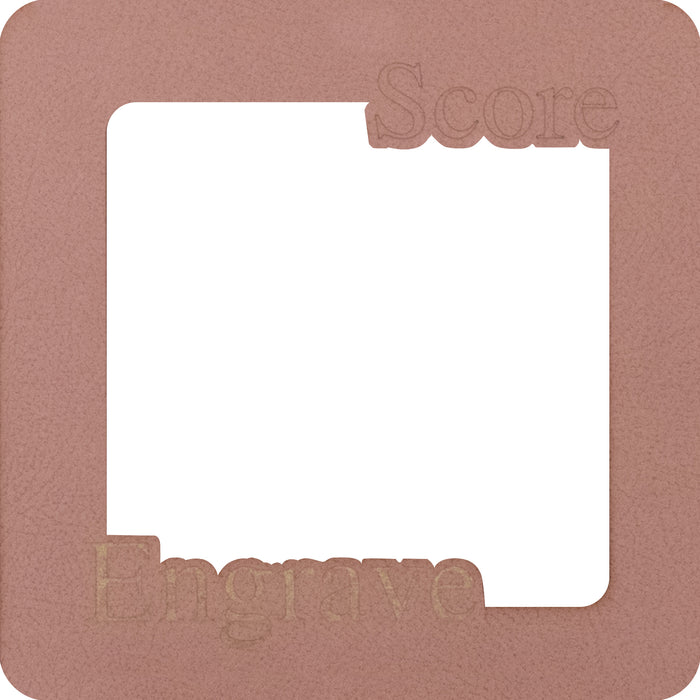 Pink Leather Suede Mat Board