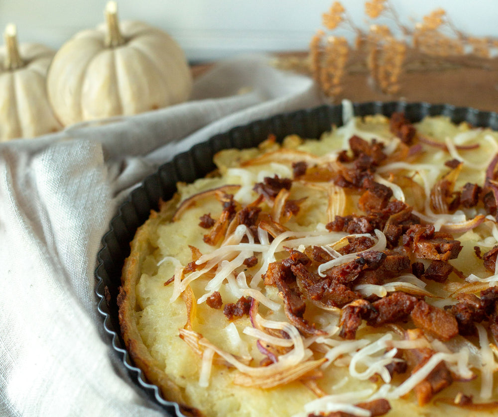 Caramelized Onion & Potato Tart with Very Good Bacon
