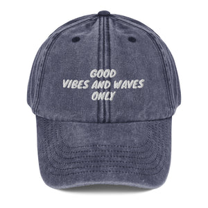 Good Vibes and Waves Cap