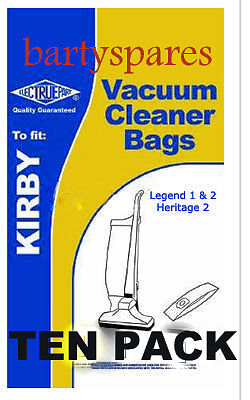 Ten Dust Bags for Kirby Heritage 2 Legend Vacuum Cleaner