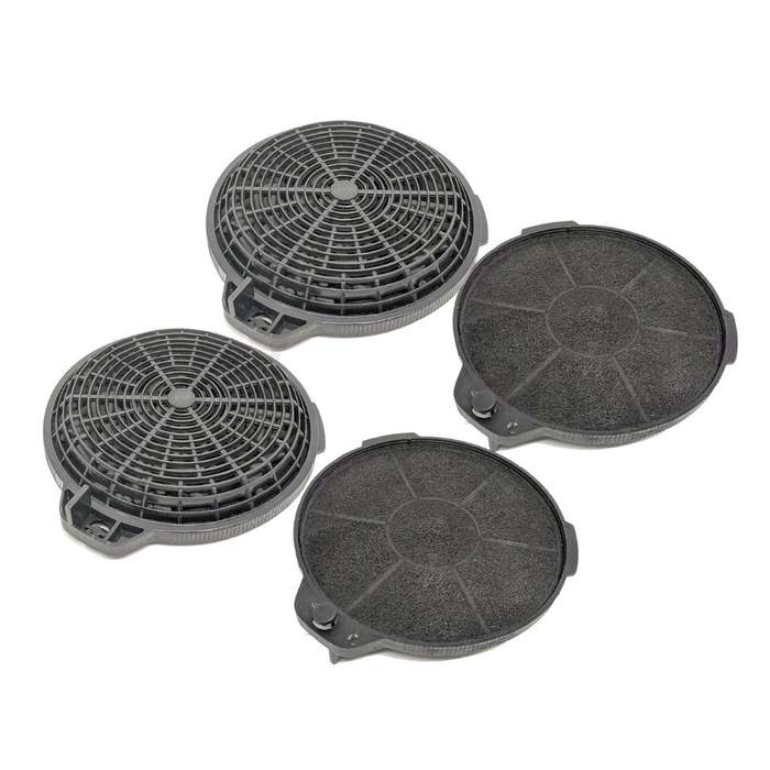 Cooker Oven Hood Carbon Filter Round For B&Q CATA Designair Cooke & Lewis 4 Pack - bartyspares