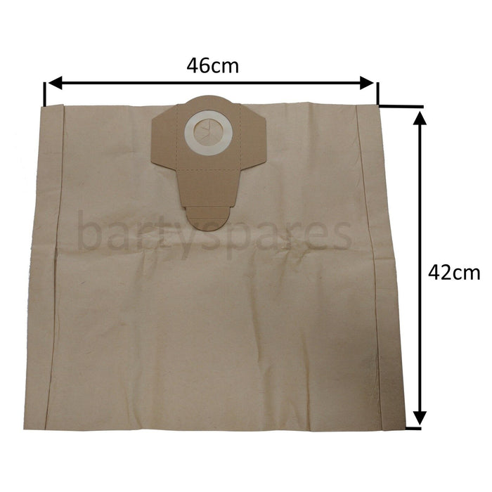 Ten Dust Bags For Draper 20515 Wet & Dry Vacuum Cleaner 20515 & 54257