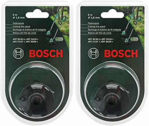 2 x BOSCH ART 24 27 30 30-36 TWIN Strimmer Trimmer Cutting Line Spool Feed - bartyspares