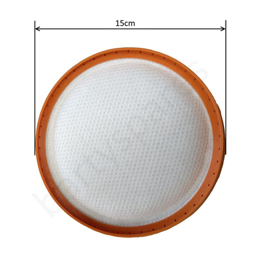 150mm Filter Pad for Vax Power 3 Cylinder Vacuum Cleaner hoover AWC01 AWC02 CCMBPCV1P1 CCMBPDV1T1 - bartyspares