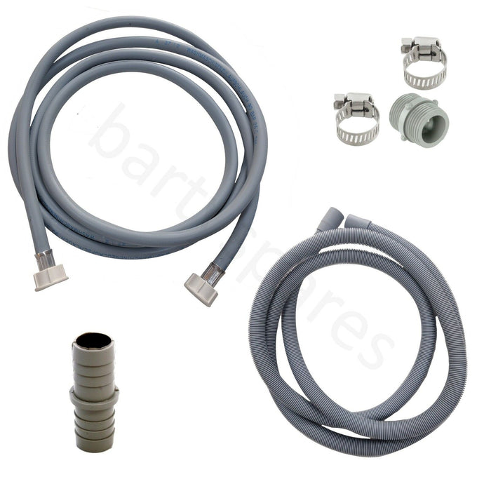 UNIVERSAL Washing Machine Fill Water & Waste Drain Hose Extension Kit 3.5m