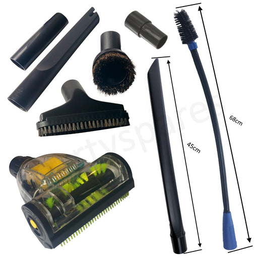 HENRY , HETTY  Car Valet Vacuum Cleaning Kit Turbo Brush Crevice Upholstery Tool - bartyspares