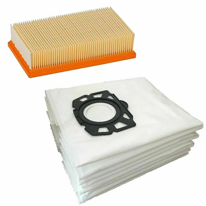 Fleece Dust Bags & Filter For Karcher 6.959.006 MV4 MV5 MV6 WD 4 WD 5 WD 6