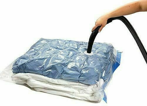 10 x Pack Vacuum Compressed Storage Bags Space Saving Clothes Bedding - 80 X 100cm - bartyspares