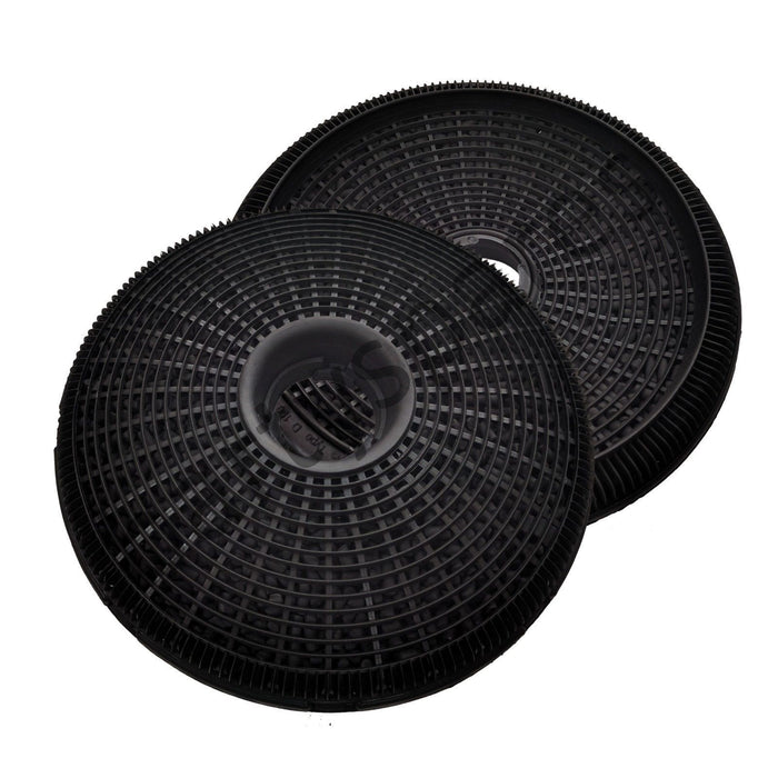 2 x 190mm Round Carbon Filters For BOSCH NEFF SIEMENS Cooker Hood Extractor - bartyspares