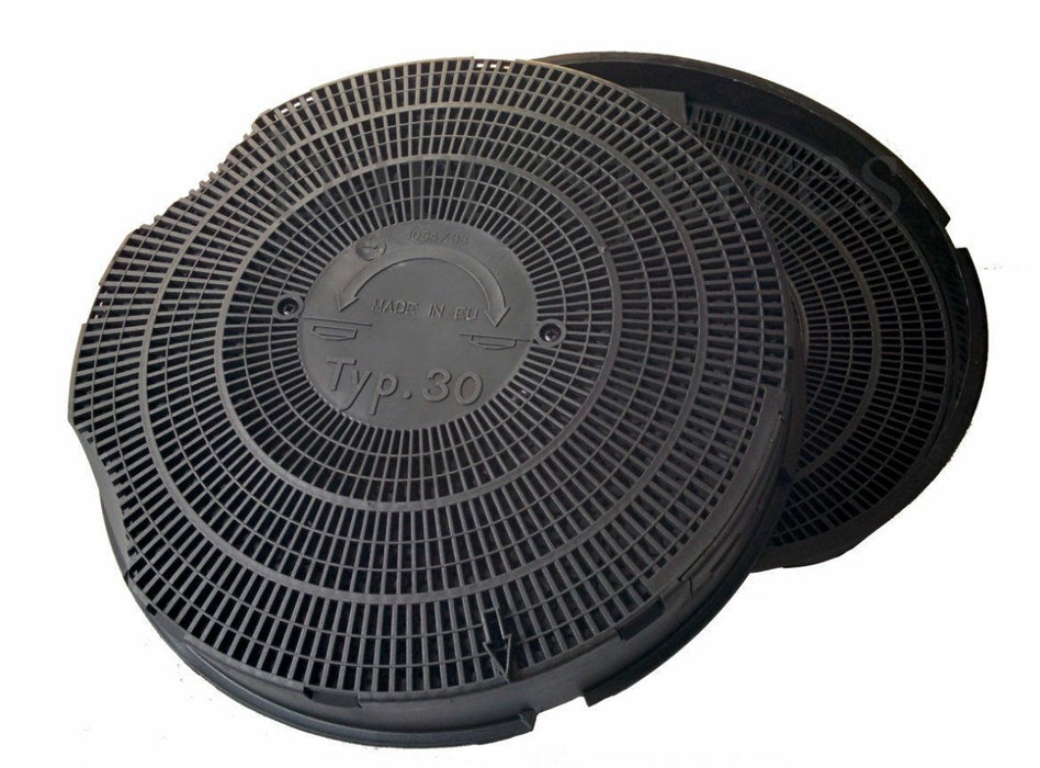 Two TYPE 30 TYP.30 Charcoal Carbon Hood Filters for Philips Whirlpool Hoods - bartyspares