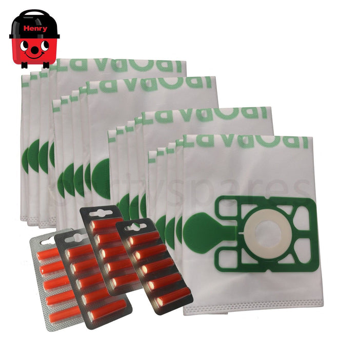 20 Large capacity Dust Bags & Air Fresheners for HENRY HETTY Vacuum Cleaner