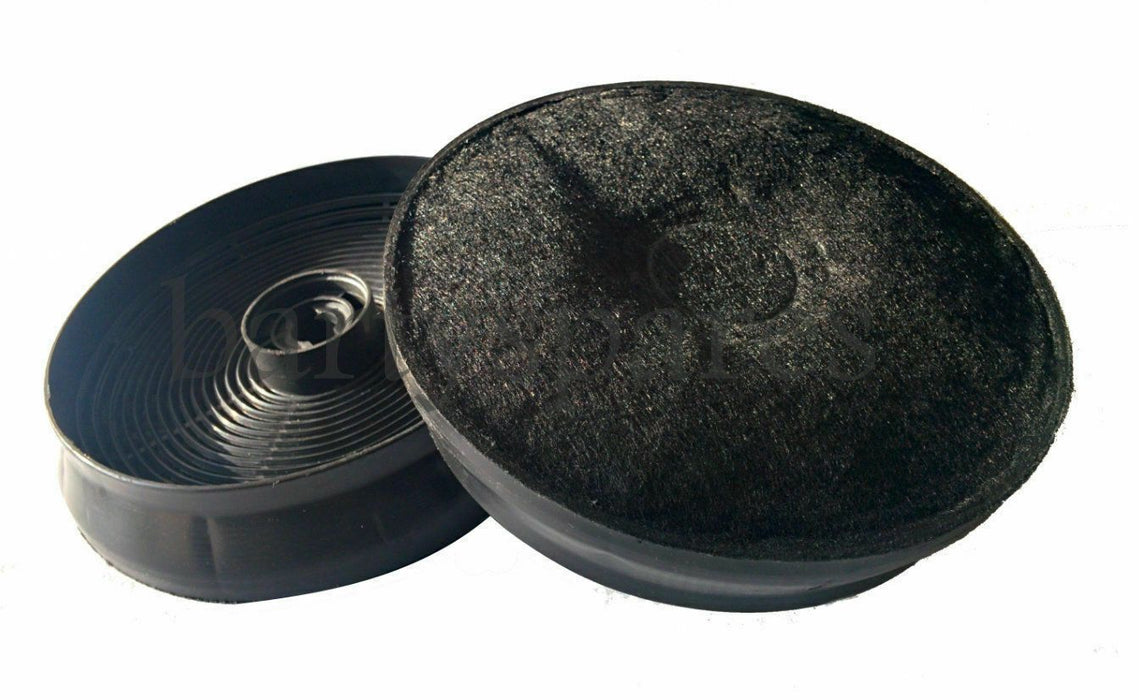 Two Carbon Charcoal Filter For New World Stoves Cooker Hood 150mm Diameter