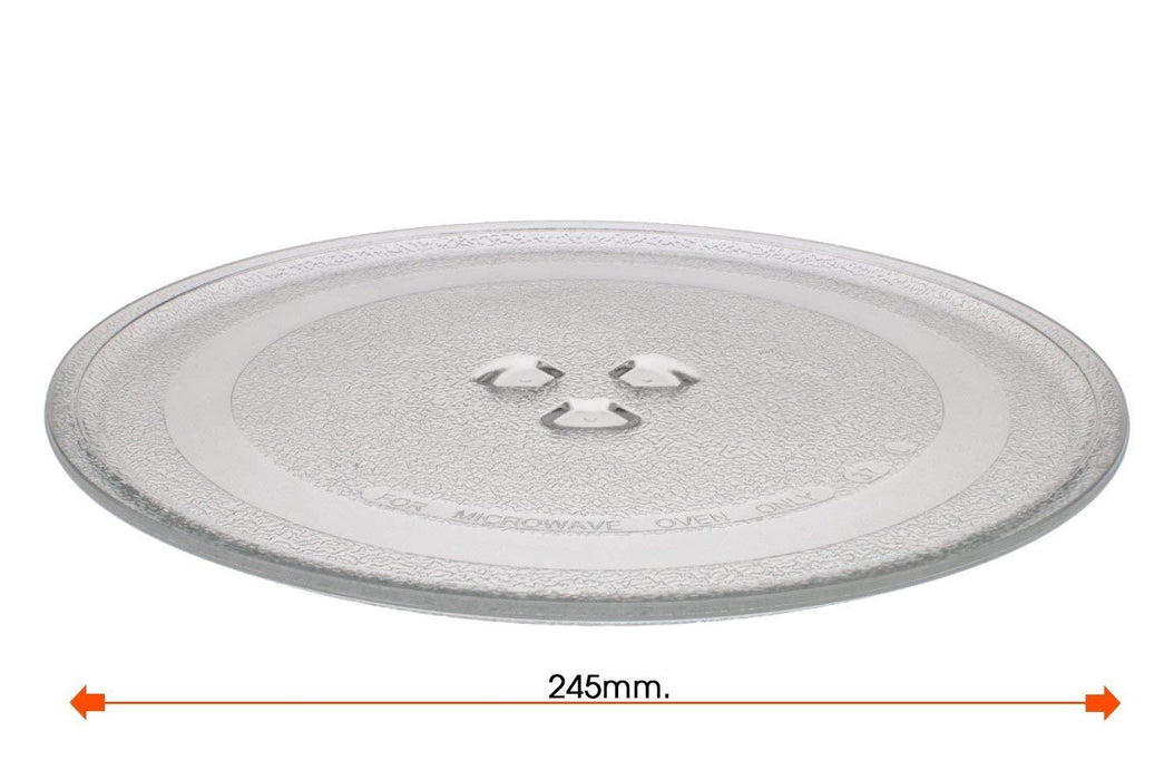 RUSSELL HOBBS Microwave Turntable Dish 3 Lug Glass Plate 245mm - bartyspares