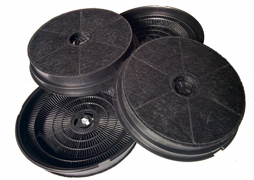 FOUR Charcoal Carbon Hood Filters for CDA CCA5+7, CIGE9, CIN6, CTE6, 3C9, EVP61