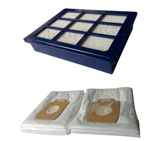 10 x Microfibre Dust Bags & H12 Hepa Filter For Nilfisk Power P40 & Allergy - bartyspares