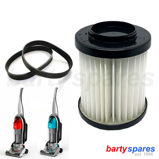 Filter & Two Belts Vax UCNBAWH1 UCNBAWP1 Nano Upright Vacuum Cleaner Type 110 - bartyspares