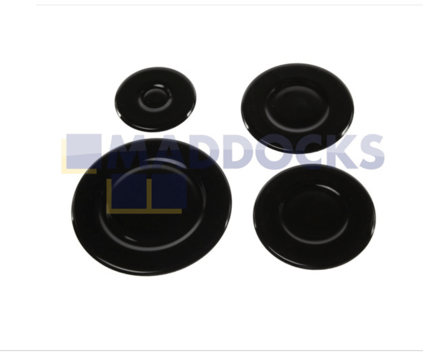 Universal Gas Hob Burner Cap Kit (100mm, 75mm, 75mm & 55mm)