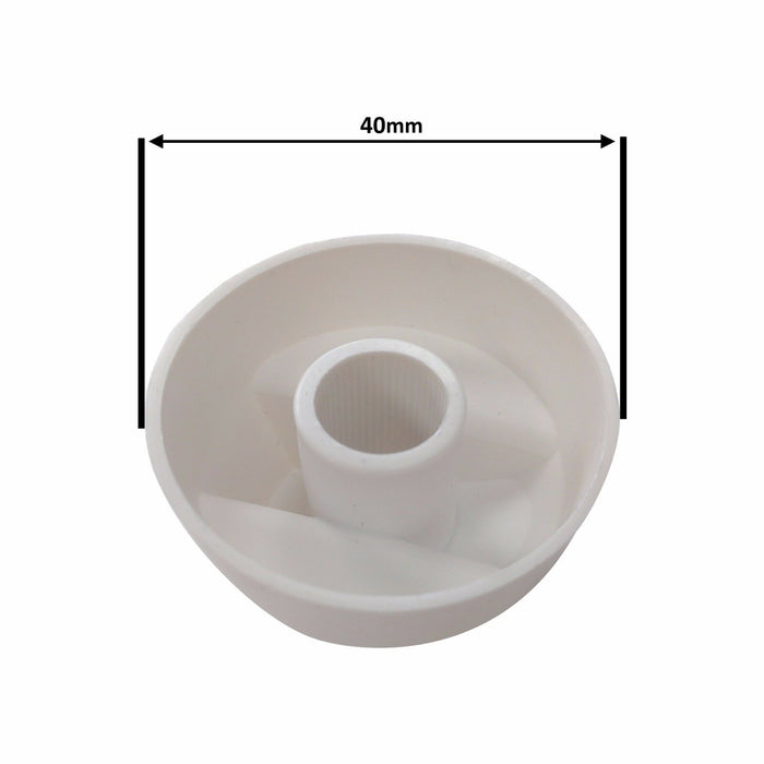 Four UNIVERSAL for HOMARK Oven Hob White Control Knob & Twenty Adapters - bartyspares