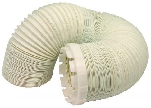 Long Vent Hose & Adaptor Kit For Indesit Tumble Dryer 2.5 Metres 4'' Fitting - bartyspares