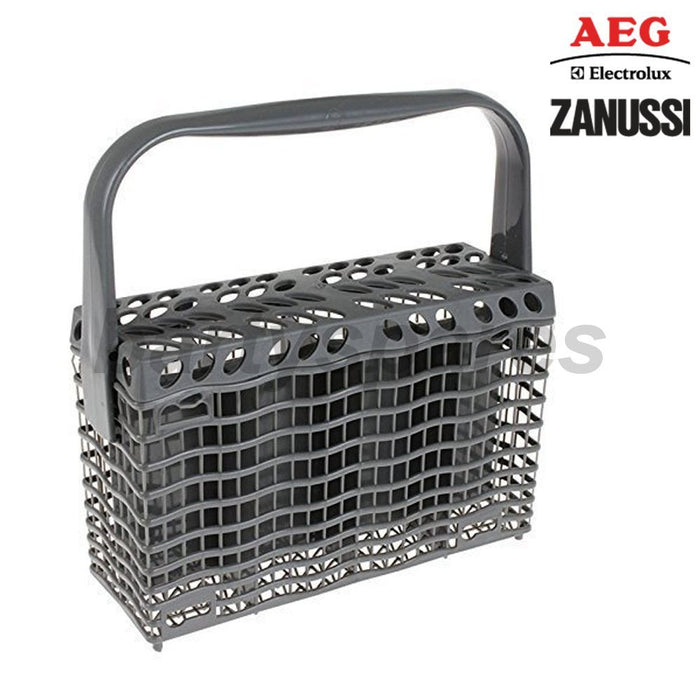 Genuine AEG, Electrolux, Zanussi Dishwasher Cutlery Basket Grey 24 x 23 x 8 cm