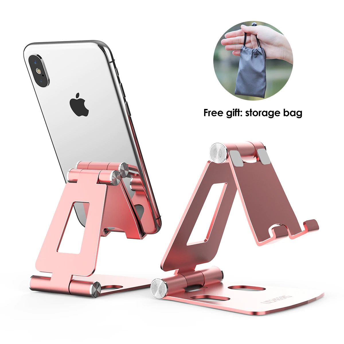 Pink Mobile Holder Stand For Iphone