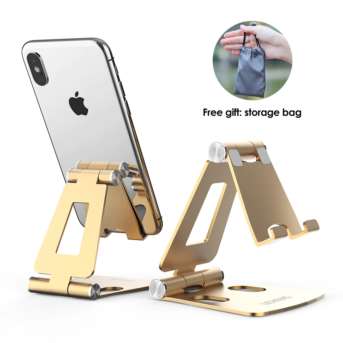 Gold Mobile Holder Stand For Iphone
