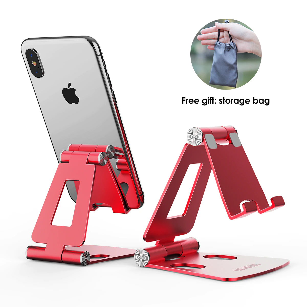Red Mobile Holder For Iphone