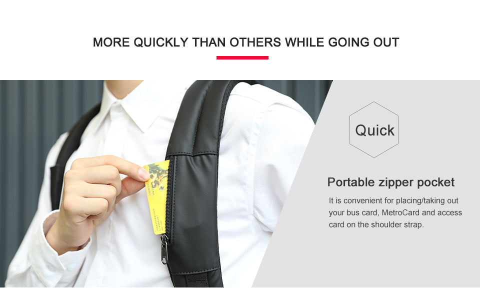 Hidden Zipper pocket backpack | Smart gadget