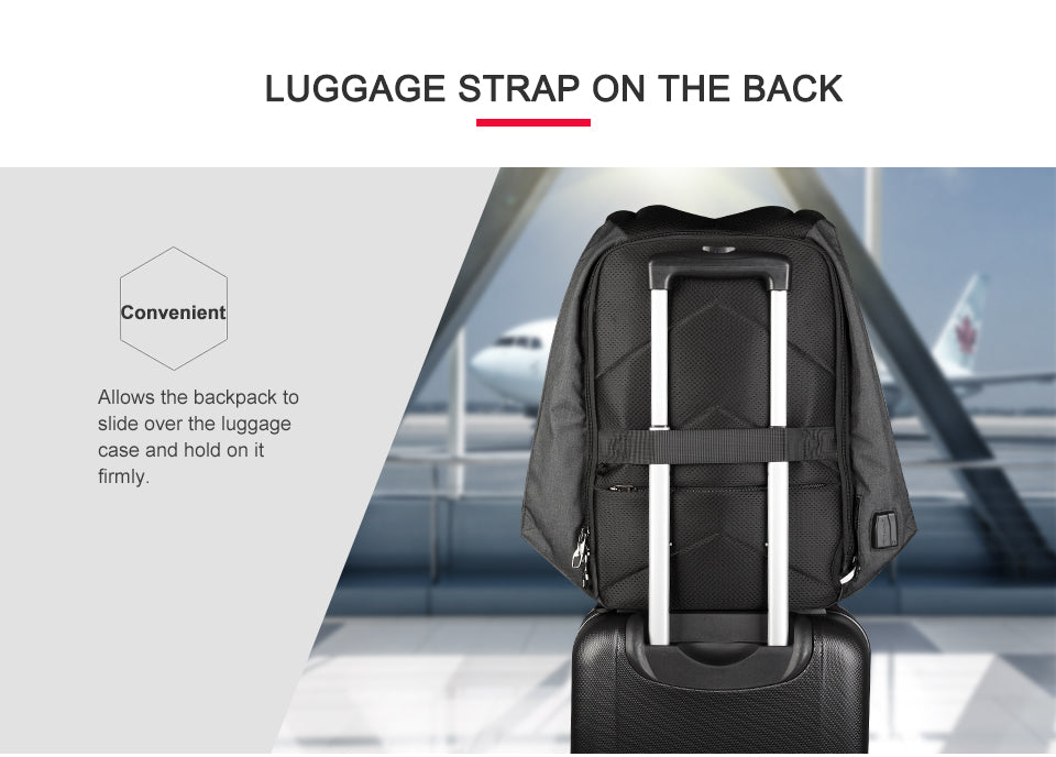 Shoulder strap for card access backpack