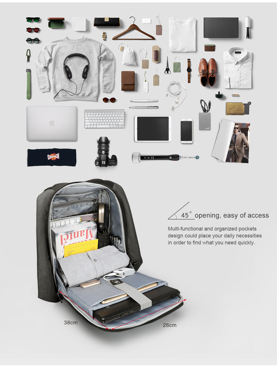 More Storage system backpack | Smart gadget