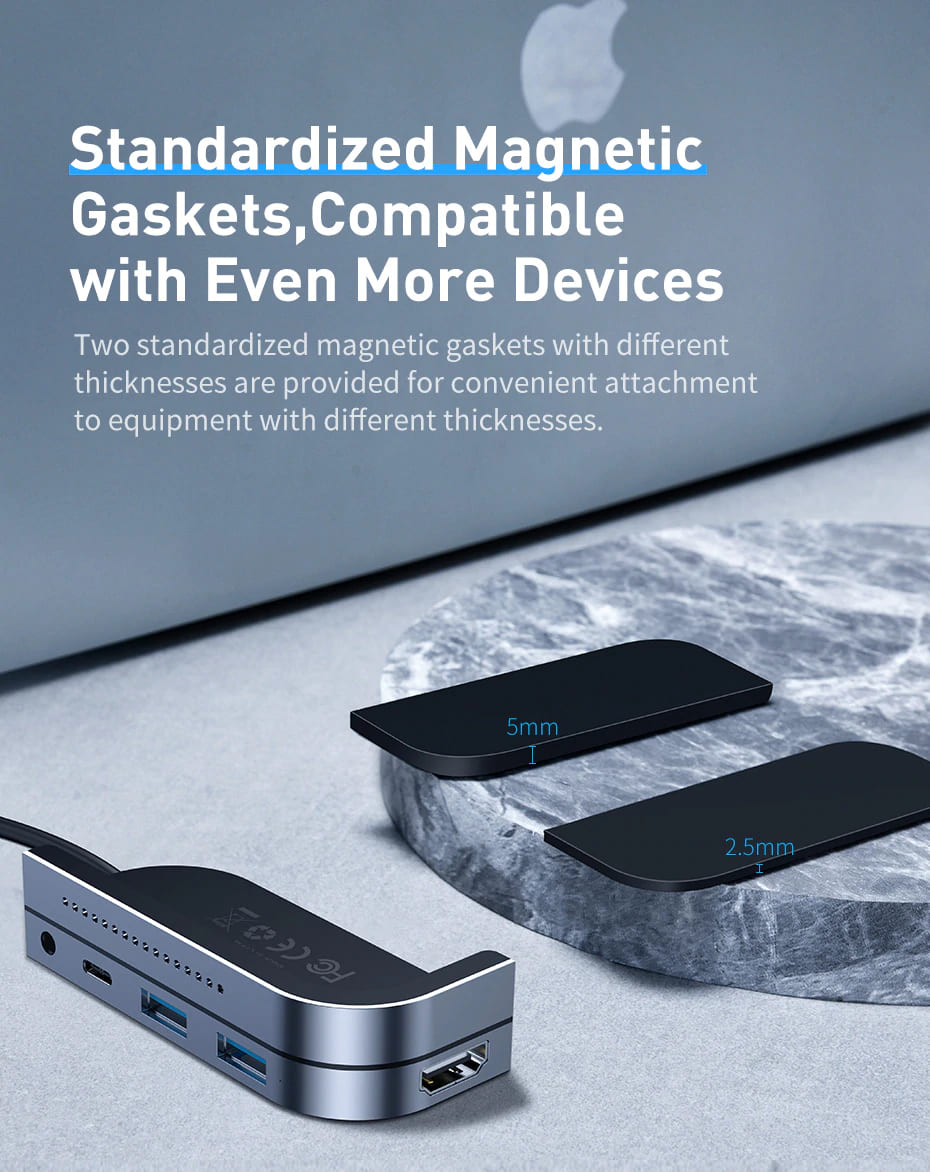 Standardized Magnetic Gaskets of USB C HUB Compatible with more devices