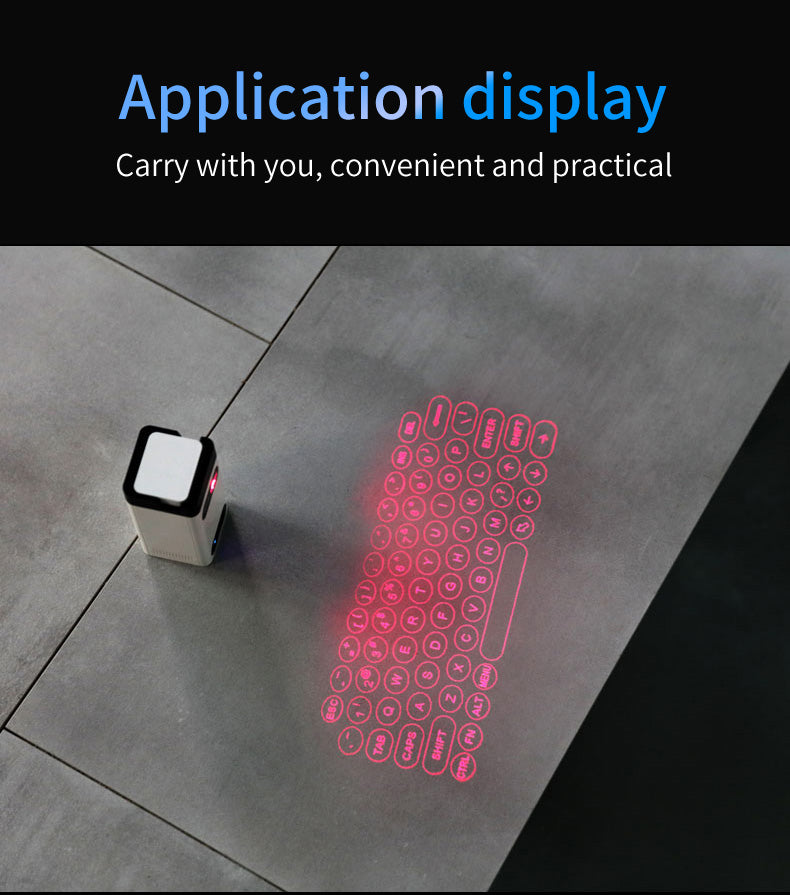 Application Display Of Laser Keyboard
