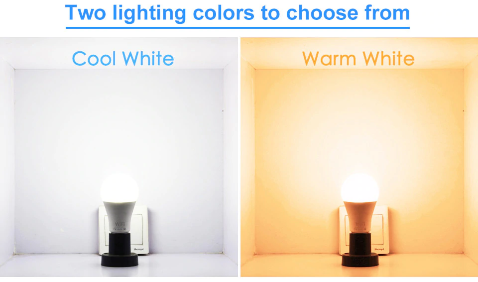 Two Lighting Colors Of Smart LED Lamp | Smart Gadget