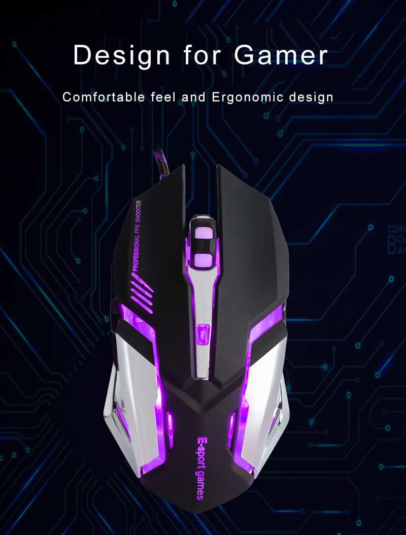 Purple Breathing Light Mouse