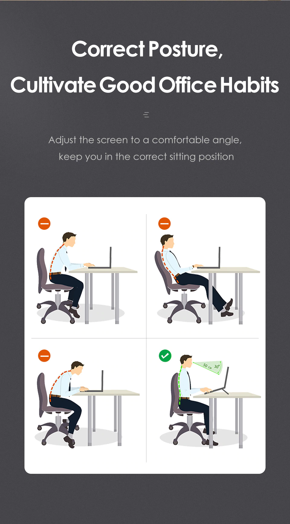 Correct Posture With Laptop Stand