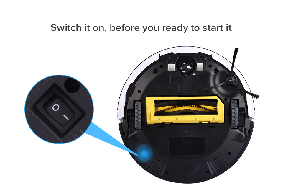 Bottom Switch Robot Vacuum Cleaner