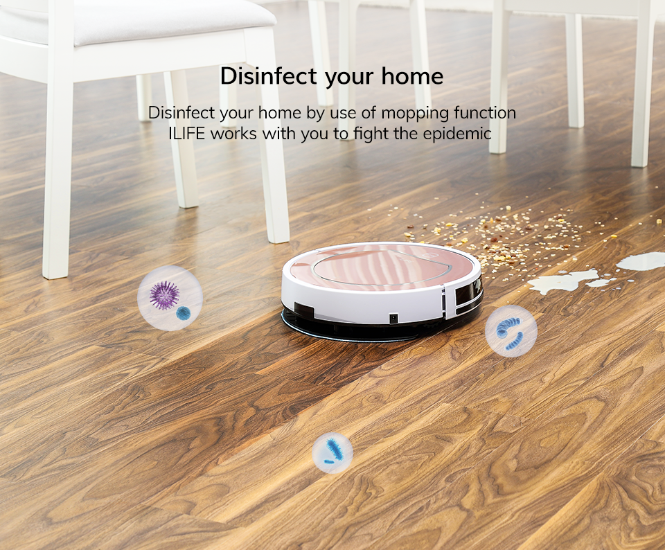 Home Disinfect with Robot Vacuum Cleaner