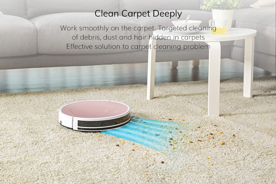 Carpet Clean With Robot Vacuum Cleaner