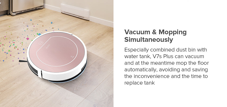 Vacuum & Mopping Simultaneously of Vacuum Cleaner