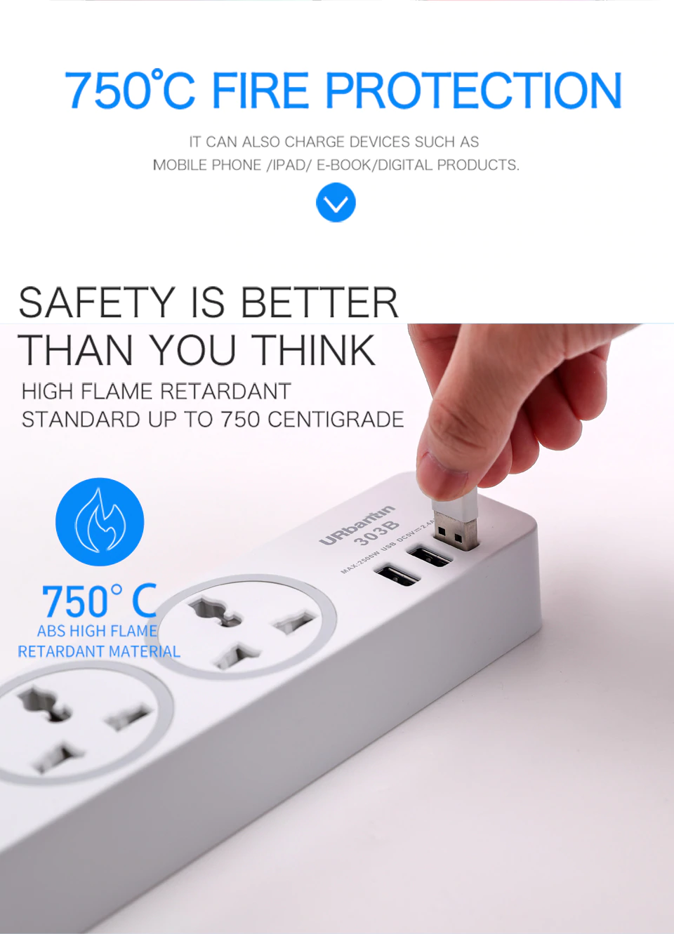 Fire Protection Of Power Strip