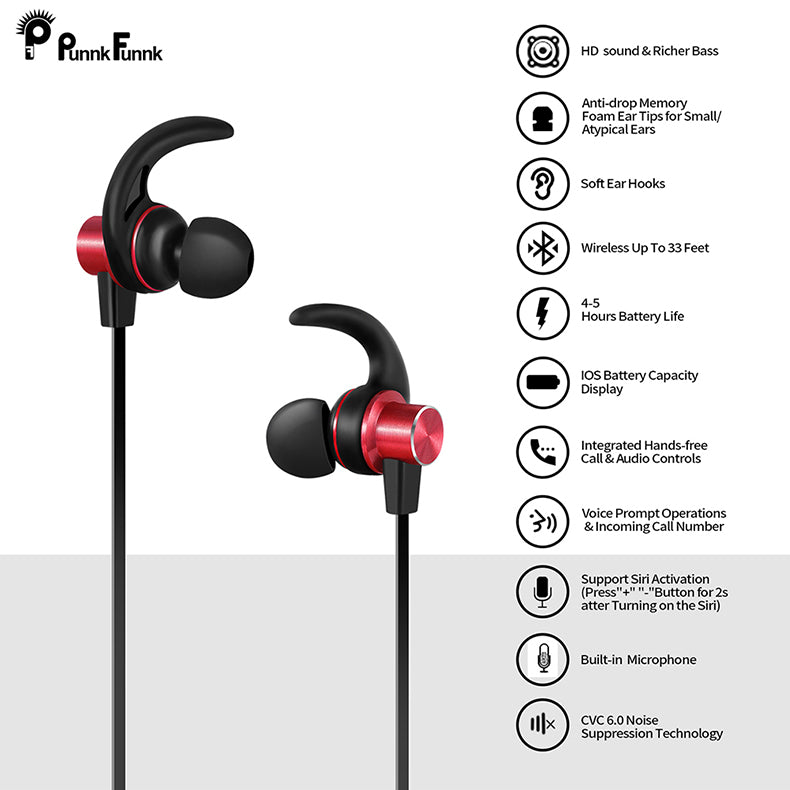 Features of Magnetic Bass Stereo Headphones