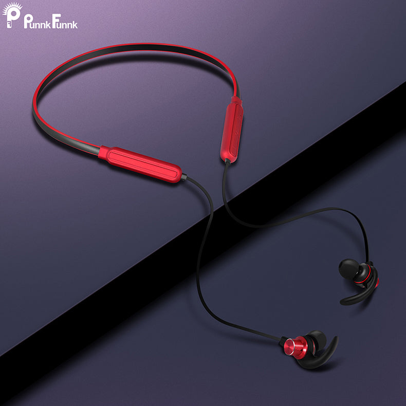 Red Bluetooth Neck Earphones