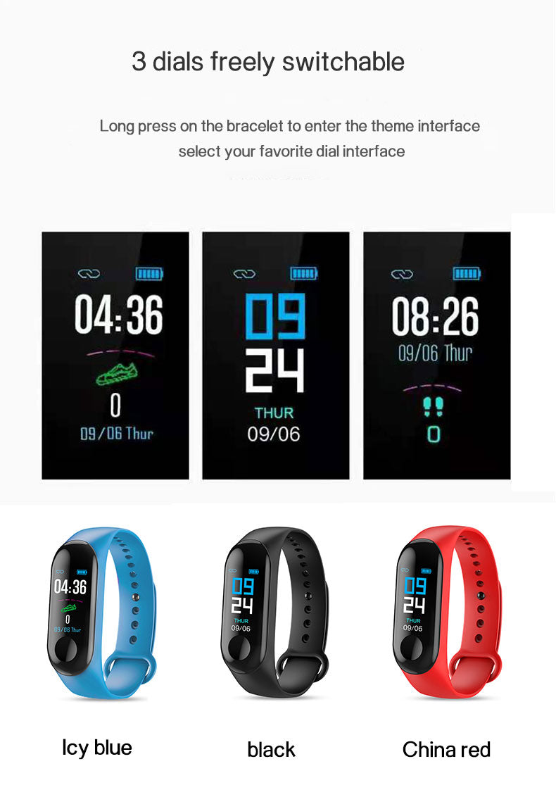3 Theme Interface Of Smart Fitness Tracker